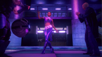 Asha Odekar beginning to dance in closing cutscene
