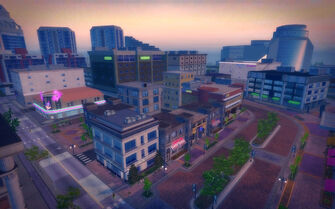 Nob Hill in Saints Row 2 - aerial view