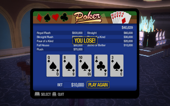 Poseidon's palace poker lose