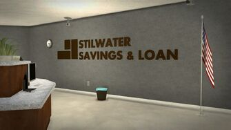 Stilwater Savings & Loan - interior sign and flag