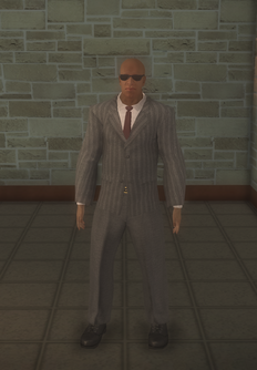 Business male - doorman black - character model in Saints Row 2