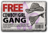 Gang Customization in Saints Row 2 - Cowboy gang unlock coupon