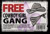 Gang Customization in Saints Row 2 - Cowboy gang unlock coupon