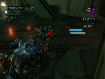 Matt's Back - Find Matt objective with Zin soldiers