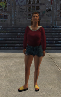 PoorTrash female - white - character model in Saints Row