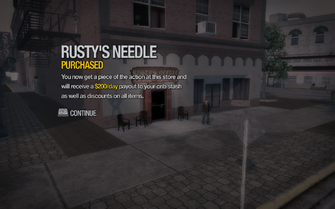 Rusty's Needle in Bavogian Plaza purchased in Saints Row 2