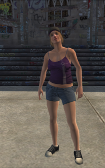 Saints female Thug-01 - white - character model in Saints Row