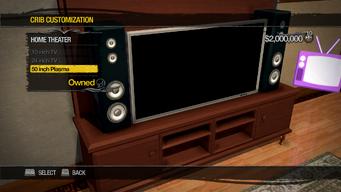 University Loft - Crib Customization - Home Theater - 50 inch Plasma