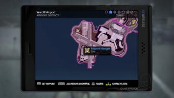 Airport Hangar - map marker