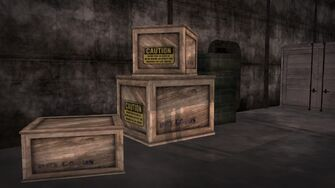 Cargo ship - boxes in the hold