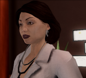 Dr Angie Lucas - closeup in Insurance Fraud cutscene