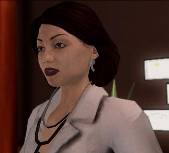 Dr Angie Lucas - closeup in Insurance Fraud cutscene