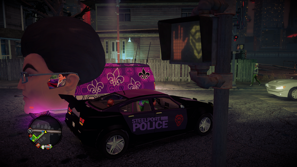 Gat Mobile driven by Gat Mascot in Saints Row IV