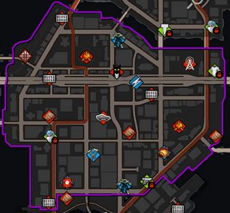 Loren Square map in Saints Row IV