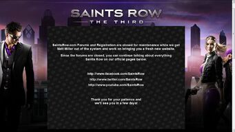 Saints Row forum maintenance