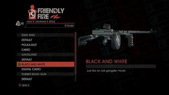 Weapon - SMGs - Heavy SMG - Gangland - Black and White