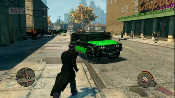 Bulldog in a trailer for Saints Row The Third