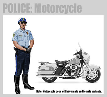 Saints Row 2 Motorcycle Cops Concept Art