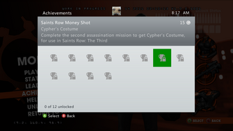 Saints Row Money Shot Achievement - Cypher's Costume