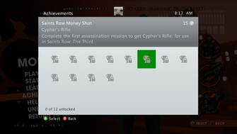 Saints Row Money Shot Achievement - Cypher's Rifle