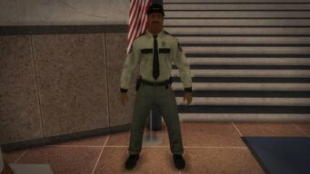 Security Guard inside courthouse