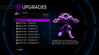 Upgrades menu in Saints Row IV - Page 1 of Vehicles