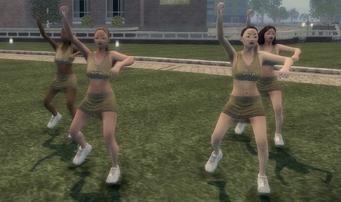 Action Node - Cheerleaders