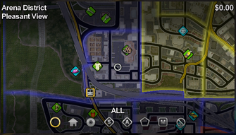 Pleasant View map in Saints Row