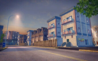 Prawn Court in Saints Row 2 - street