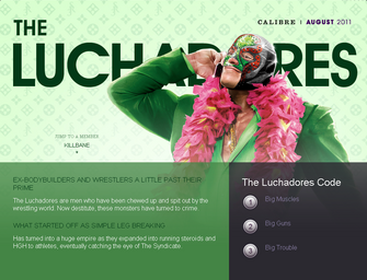 Saints Row website - Gangs - The Luchadores - intro