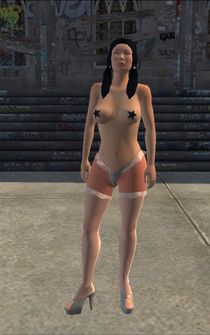 Stripper - Asian - pasty - character model in Saints Row