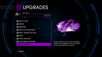 Upgrades menu in Saints Row IV - Page 2 of Activities