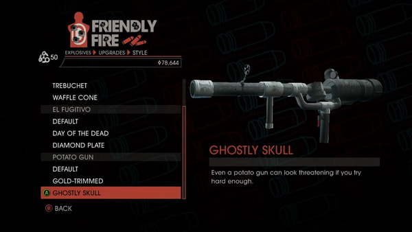 Weapon - Explosives - RPG - Potato Gun - Ghostly Skull