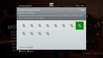 Saints Row Money Shot Achievement - Cypher's Jet Bike