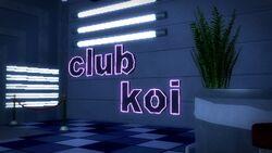 Club Koi - interior sign