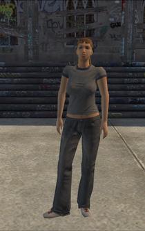 Poor female - white poor female - character model in Saints Row