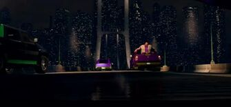 Stilwater bridge with buildings in background in Saints Row The Third