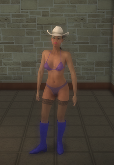 Stripper female - black Casual - character model in Saints Row 2