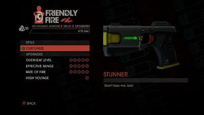 Weapon - Melee - Stun Gun - Upgrades