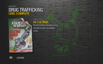 XS-2 Ultimax unlocked by Drug Trafficking Level 3 in Saints Row 2