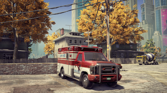Ambulance - front right in Saints Row The Third Remastered