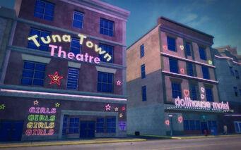 Bavogian Plaza in Saints Row 2 - Tuna Town Theatre