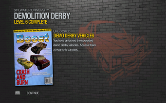 Demo Derby Vehicles unlocked in Saints Row 2