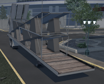 Flatbed trailer with Ramp
