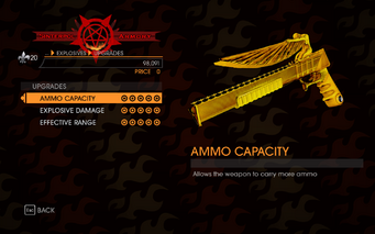 Gat out of Hell - 7 Deadly Weapons - Wrath - Upgrades
