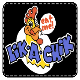 Lik-a-Chik mascot patch
