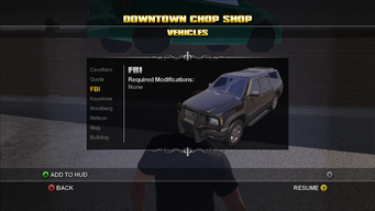 Saints Row Chop Shop - Downtown - FBI
