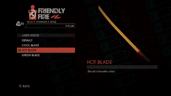 Weapon - Melee - Energy Sword - Laser Razor - Hot Blade