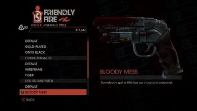 Weapon - Pistols - Heavy Pistol - DEK-RD Railpistol - Bloody Mess