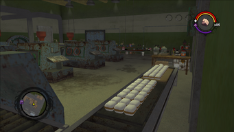 Drug Factory interior main room view from the south west corner in Saints Row